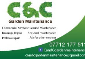 C&C Garden Maintenance Business Cards