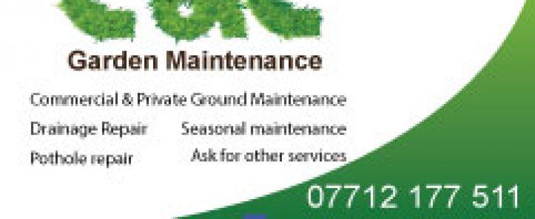 C&C Garden Maintenance Business Cards