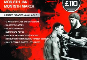 Team Goliath Boxing Gym 10 week Challenge Poster